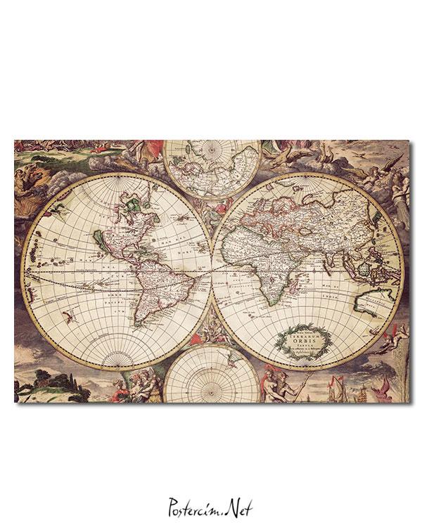 old earth map afişi