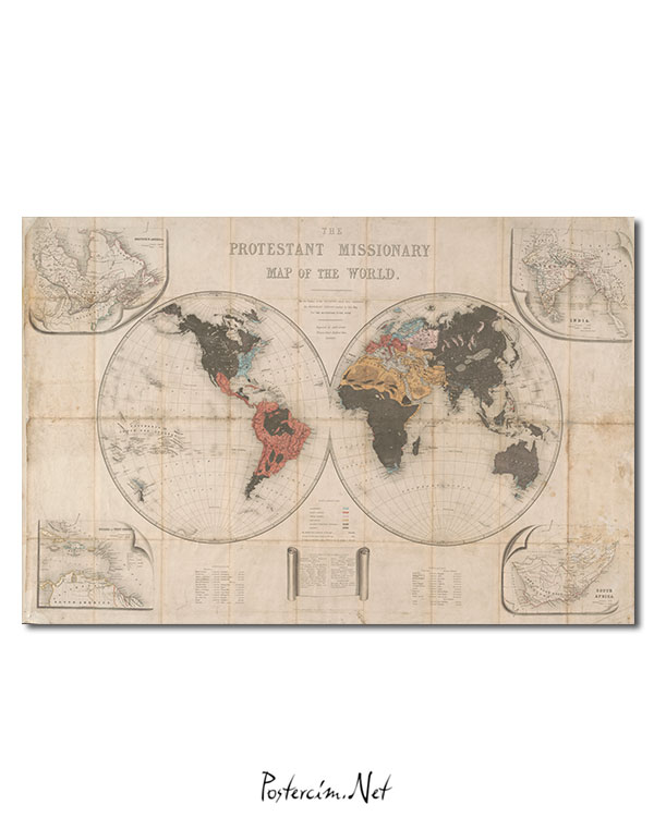 Protestant Missionary Map afisi