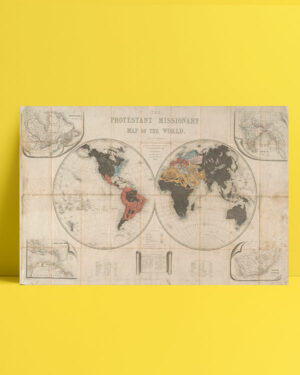 Protestant Missionary Map posteri