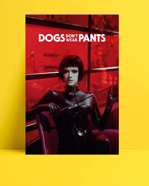 Dogs don't wear pants posteri