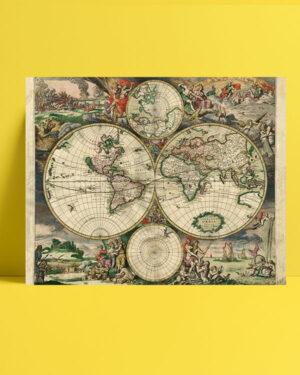 Eski Dünya Haritası (1689) posteri