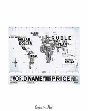 Financial Currency Map afişi