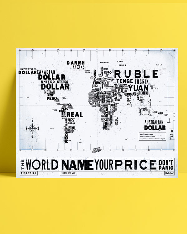 Financial Currency Map posteri