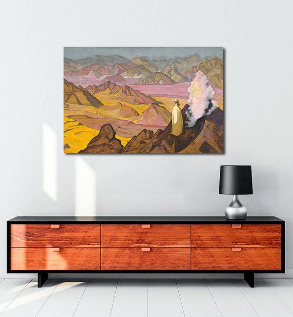 Mohammed on Mount Hira kanvas tablo