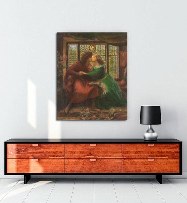 Paolo and Francesca da Rimini kanvas tablo
