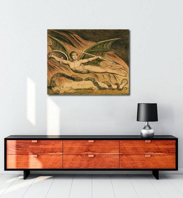 Satan Exulting over Eve kanvas tablo