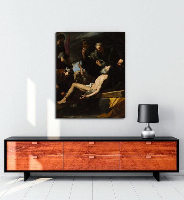 The Martyrdom of Saint Andrew kanvas tablo