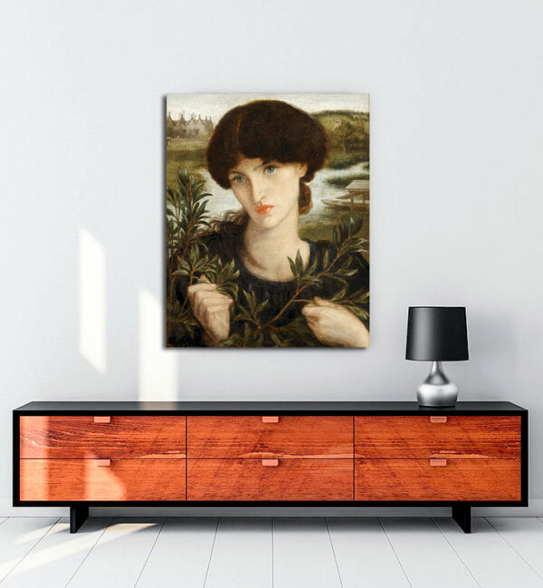 Dante Gabriel Rossetti kanvas tablo