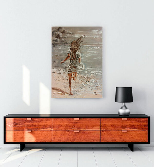 Denize koşmak posteri kanvas tablo