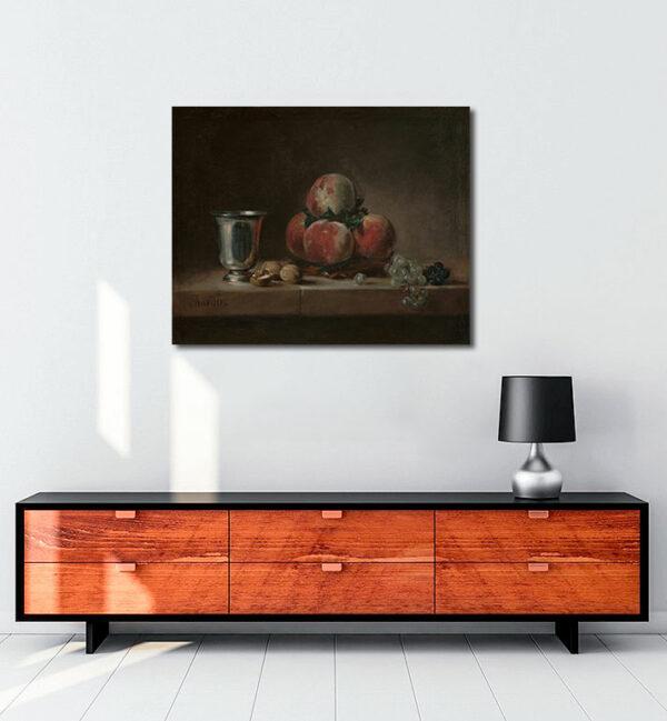 Still-Life-with-Peaches-kanvas-tablo