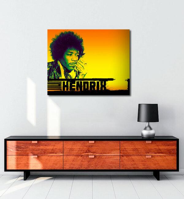 Jimi Hendrix kanvas tablo