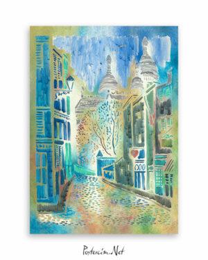 Montmartre'nin-küçük-sokağı-afisi