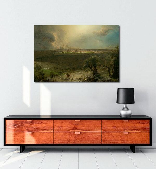 Zeytin-Dağı'ndan-Kudüs-kanvas-tablo