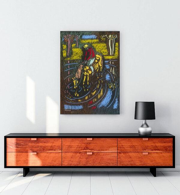 atını-sulayan-binici-kanvas-tablo