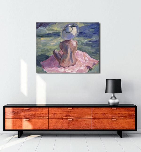 floransa-şapkalı-kadın-kanvas-tablo