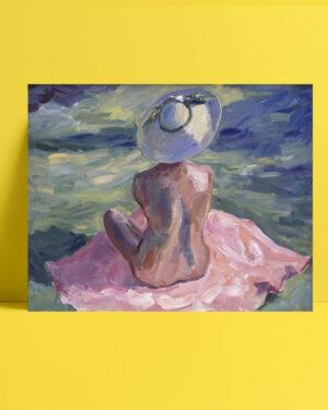 floransa-şapkalı-kadın-posteri
