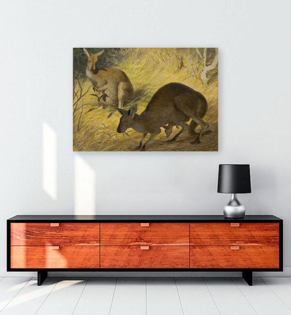 kangurular-kanvas-tablo