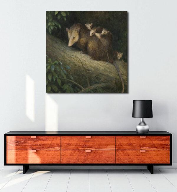 keseli-sıçan-ve-yavruları-kanvas-tablo