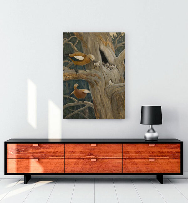 kızılkanatlı-ördekler-kanvas-tablo