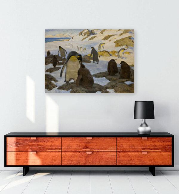 penguen-kolonisi-kanvas-tablo