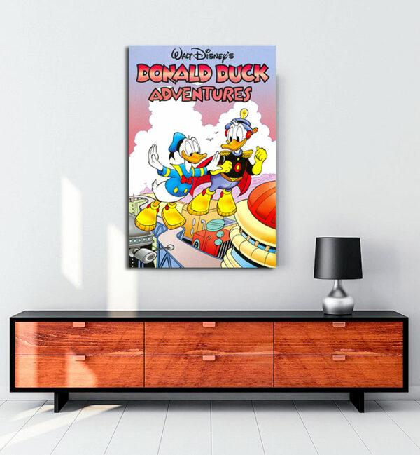 Donald-Duck'ın-maceraları-kanvas-tablo