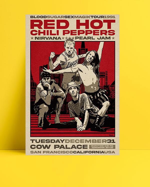red-hot-chili-peppers-1991-turu-posteri