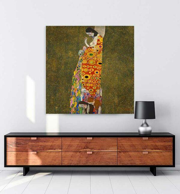 Gustav Klimt Umut Kanvas Tablo